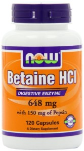 Betaine hydrochloric acid side effects
